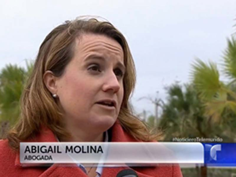 Attorney Abigail Molina Interviewed by Telemundo